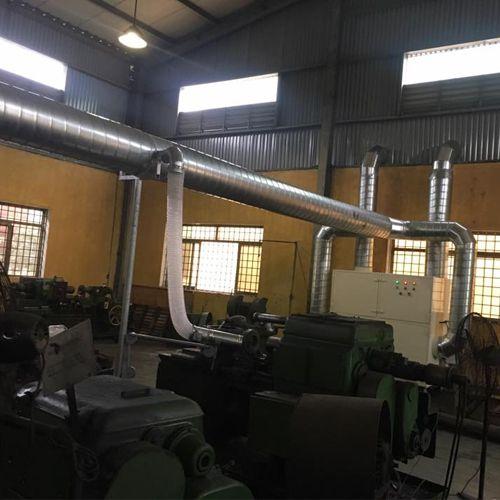 Đường ống hút khí tại nhà máy Z113 Thái Nguyên